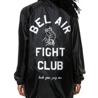 BEL AIR FIGHT CLUB COACHES JACKET BLACK