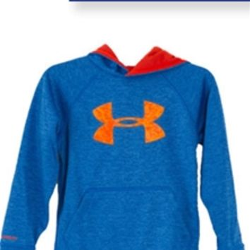 Under Armour Storm Armour Fleece Big Logo Blocked Hoodie for Boys 1249
