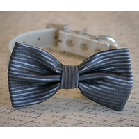 Charcoal wedding Dog Bow Tie, Pet Wedding, Dog Bow tie, Pet accessory