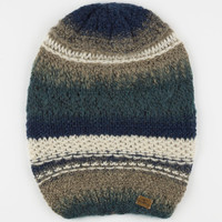 Billabong Tidal Wave Beanie Blue Combo One Size For Women 23825724901