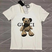 GG men's and women's double G round neck short-sleeved T-shirt