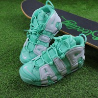 Best Online Sale Nike Air More Uptempo QS Fluorescent Green Basketball Shoes Sneaker 415082-300