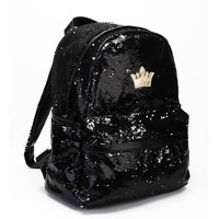 Glitter Sequin Crown Backpack