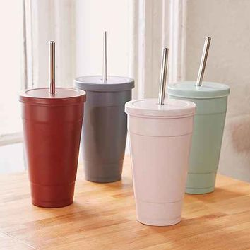 Stainless Steel To-Go Sipper Cup
