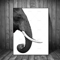Canvas Painting Wall Pictures Scandinavian Nordic Poster Elephant Animal Abstract decor for Living Room Art Decoration Pictures