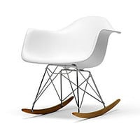 Vinnie White Cradle Chair | Overstock.com