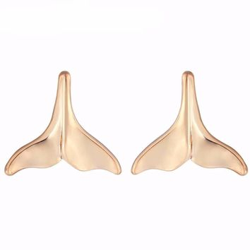 Dolphin style Silver Simple Stud Earrings