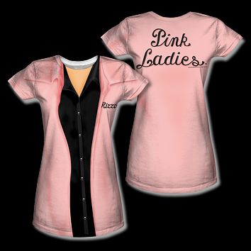 Grease Pink Ladies Rizzo Sublimation Womens Tee Shirt