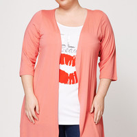 Hello Beautiful Two-In-One Cardigan Top