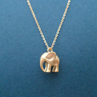 Puffy, Elephant, Necklace, Animal, Necklace, Gold/ Silver, Necklace, Minimal, Cute, Gift, Necklace, Jewelry, For, Her, Mother's Day, Gift