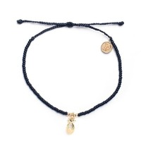 Pura Vida - Gold Pineapple Seed Bead Bracelet | Black