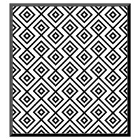 Art.com Seamless Black And White Diamonte - Mounted Print