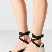 Soludos Tall Linen Wedge   Urban Outfitters