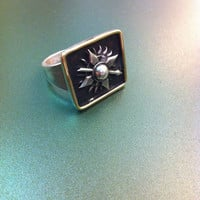 House Martell inspired sterling silver handmade ring- Game of thrones inspired silver signet ring-fashion geek-got geek