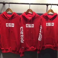 Day-First™ KITH & Champion Red Hooded pullover Hoodies Sweatshirt H-A-GHSY-1