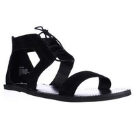 Steve Madden Delgado Cutout Gladiator Sandals, Black, 9.5 US