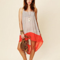 Free People Hi Low Color Block Dress at Free People Clothing Boutique