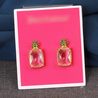 pineapple pattern summer fashion style lovely women gift -earrings for her = 4828007876