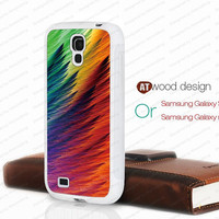 abstract colors Galaxy S4 case Galaxy Note 2 case samsung I9500 case rubber case Note II case N7100 case