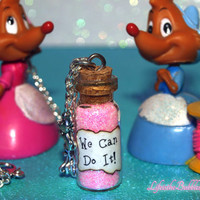 We Can Do It Magical Necklace with Mice Charms, Cinderella Work Song, Cinderelly, Disney Inspired, by Life is the Bubbles
