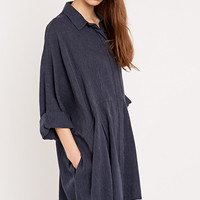 BDG Modern Shirt Dress in Navy - Urban Outfitters