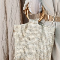 Bamboo Handle Tote - Bags by Sabo Skirt