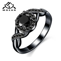 Fashion Accessories and Jewelry  Black Gold Color Wedding Rings