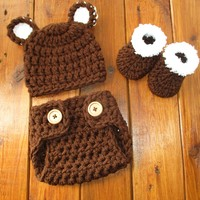 Baby Bear Outfit Newborn Bear Photo Outfit