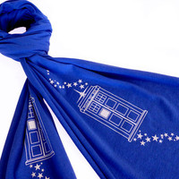 Bigger on the Inside Scarf - Doctor Who TARDIS Inspired Scarf