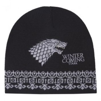 Game of Thrones Embroidered Stark Beanie