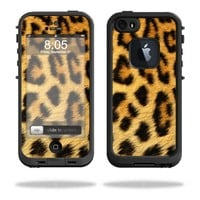 Mightyskins Protective Vinyl Skin Decal Cover for LifeProof iPhone 5/5s/SE Case fre Case wrap sticker skins Cheetah