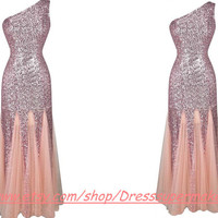 Long Sequin Prom Gown,Maternity Sexy Prom Homecoming Dress, Brown Dress, Long Tulle Bridesmaid Dress,Short Lace Dress