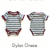 PDF Downloadable Pattern Unisex Girl Boy Baby Knit Onesuit DIY Easy Preemie to 3T
