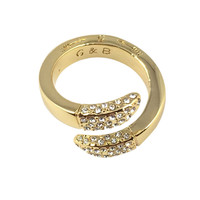 Giles & Brother | Double Spike Bypass Ring Gold & Pave