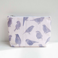Blue Bird Zipper Bag