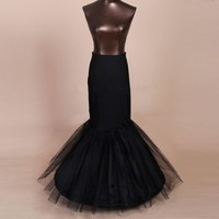 Black Mermaid/Trumpet Petticoat