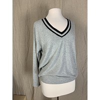 Project Social Tee Striped Collar Sweatshirt (Size XS & S)