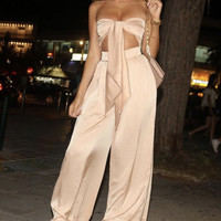 Camela Blush Two Piece Glam Jumpsuit