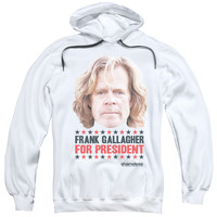 SHAMELESS/FOR PRESIDENT-ADULT PULL-OVER HOODIE-WHITE-SM