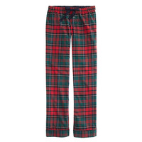 J.Crew Womens Tall Pajama Pant In Plaid Flannel