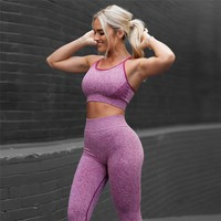 2Pcs Women Yoga Sets Fitness Sport Bra+Yoga Pants Leggings suit, Gym Running active wear Sport Set Workout Clothes for Female