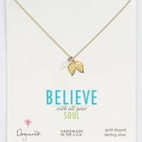 Dogeared Angel Wings & Cross Cluster Pendant Necklace (Nordstrom Exclusive) | Nordstrom