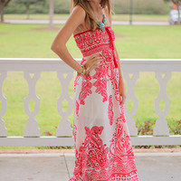 Paisley Perfection Maxi, Red