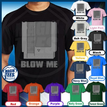 Blow Me Old School Nintendo Humor T-Shirt