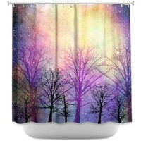 DiaNoche Designs Shower Curtains by Sylvia Cook Stylish, Decorative, Unique, Cool, Fun, Funky Bathroom - Trees