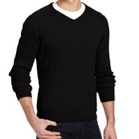 Kenneth Cole New York Men's Ribbed V-Neck Sweater