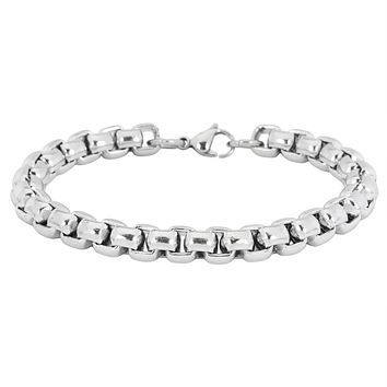 8mm Extra Large Boxchain Stainless Steel Bracelet