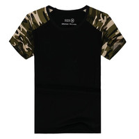 Man Casual Camouflage T-shirt Men Cotton Army Tactical Combat T Shirt Military Camo Camp Mens T Shirts Fashion 2016 Tees