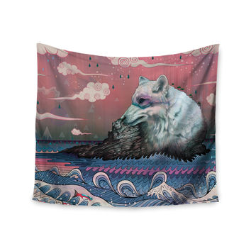 """Mat Miller """"Lone Wolf"""" Wall Tapestry"""