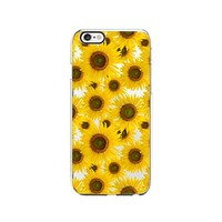 Sunflower Pattern Transparent Silicone Plastic Phone Case for iphone 6 _ LOKIshop (iphone 6)
